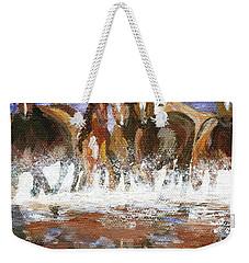 Weekender Tote Bag featuring the painting Splashing Around by Jamie Frier