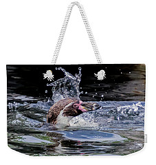 Splashing Humboldt Penguin Weekender Tote Bag