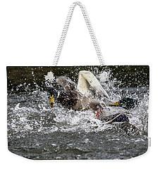 Splashing Mallards  Weekender Tote Bag
