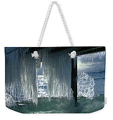 Splash...storm Sunset Weekender Tote Bag by Sean Sarsfield