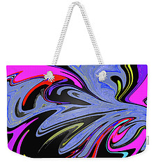 Weekender Tote Bag featuring the painting Splat by Robert Margetts