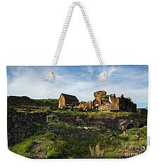 Splendid Ruins Of St. Sargis Monastery In Ushi, Armenia Weekender Tote Bag by Gurgen Bakhshetsyan