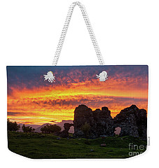 Splendid Ruins Of Tormak Church During Gorgeous Sunset, Armenia Weekender Tote Bag