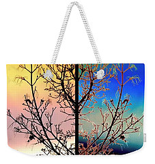 Weekender Tote Bag featuring the digital art Splendid Spring Fusion by Will Borden