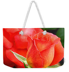 Weekender Tote Bag featuring the photograph Splendid Tropicana Roses by Will Borden