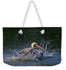 Weekender Tote Bag featuring the photograph Splish Splash by HH Photography of Florida