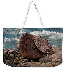 Weekender Tote Bag featuring the photograph Split Rock In Joshua Tree National Park by Randall Nyhof