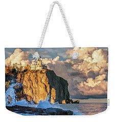 Weekender Tote Bag featuring the painting Split Rock Lighthouse by Christopher Arndt