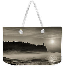Split Rock Lighthouse Emerging Fog Weekender Tote Bag