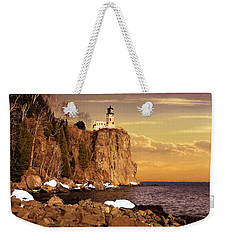 Weekender Tote Bag featuring the photograph Split Rock Lighthouse by Susan Rissi Tregoning