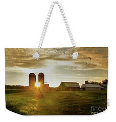 Split Silo Sunset Weekender Tote Bag by Benanne Stiens