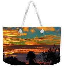 Split Sunset Weekender Tote Bag