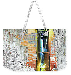 Weekender Tote Bag featuring the mixed media Split by Tony Rubino