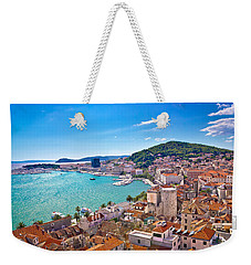 Split Waterfront And Marjan Hill View Weekender Tote Bag by Brch Photography