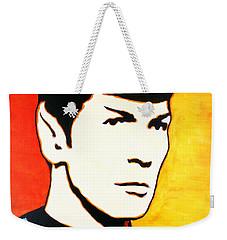 Spock Vulcan Star Trek Pop Art Weekender Tote Bag by Bob Baker