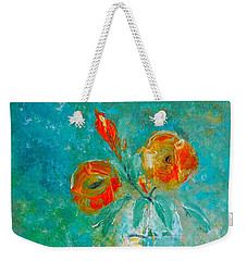 Palette Knife Floral Weekender Tote Bag by Lisa Kaiser