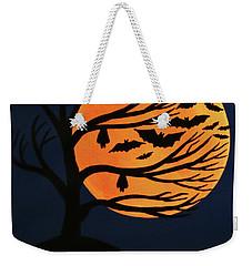 Spooky Bat Tree Weekender Tote Bag