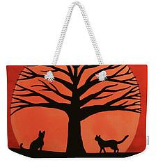 Spooky Cat Tree Weekender Tote Bag