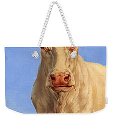 Spooky Cow Weekender Tote Bag by Margaret Stockdale