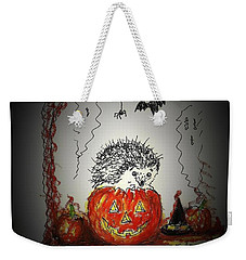 Spooky Hedgehog Halloween Weekender Tote Bag
