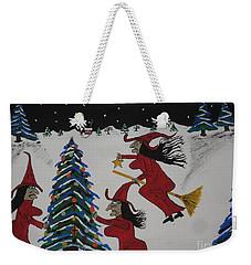Spooky Merry Christmas Weekender Tote Bag