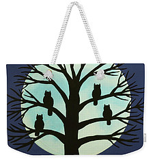 Spooky Owl Tree Weekender Tote Bag