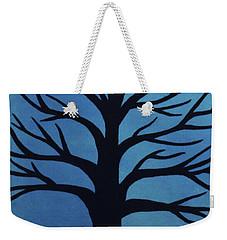 Spooky Tree Blue Weekender Tote Bag