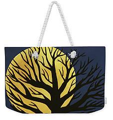 Spooky Tree Yellow Weekender Tote Bag