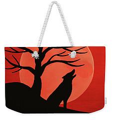 Spooky Wolf Tree Weekender Tote Bag