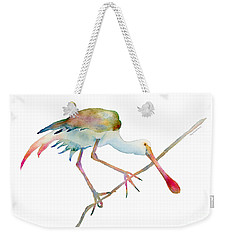 Spoonbill  Weekender Tote Bag by Amy Kirkpatrick