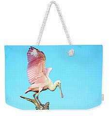 Spoonbill Flight Weekender Tote Bag