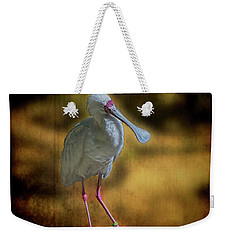 Weekender Tote Bag featuring the photograph Spoonbill by Lewis Mann