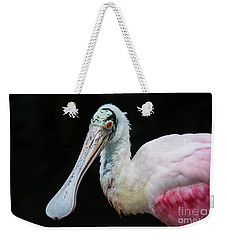 Weekender Tote Bag featuring the photograph Spoonbill by Lisa L Silva