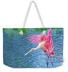 Spoonbill Splash Weekender Tote Bag