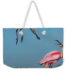 Spoonbills Greeting Weekender Tote Bag
