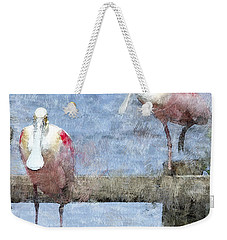 Spoonbills Hanging Out Weekender Tote Bag by Betty LaRue