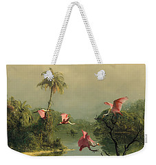 Spoonbills In The Mist Weekender Tote Bag