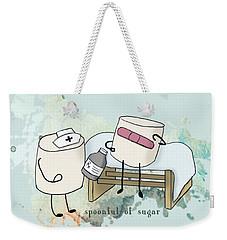 Weekender Tote Bag featuring the digital art Spoonful Of Sugar Words Illustrated  by Heather Applegate