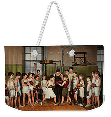 Weekender Tote Bag featuring the photograph Sport - Boxing - Fists Of Fury 1924 by Mike Savad