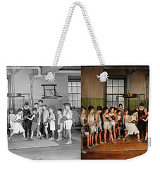 Weekender Tote Bag featuring the photograph Sport - Boxing - Fists Of Fury 1924 - Side By Side by Mike Savad