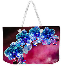 Spotted Blue Orchid  Weekender Tote Bag
