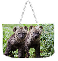 Spotted Hyena Cubs I Weekender Tote Bag