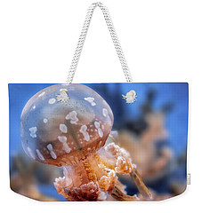 Weekender Tote Bag featuring the photograph Spotted Lagoon Jellyfish by Anthony Citro