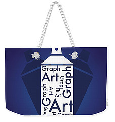 Graph Art Spray Can Weekender Tote Bag by Sheila Mcdonald