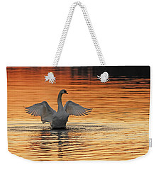 Spreading Her Wings In Gold Weekender Tote Bag
