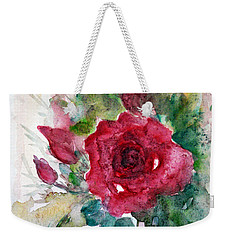 Weekender Tote Bag featuring the painting Spring For You by Jasna Dragun