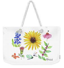 Spring 2017 Medley Watercolor Art By Kmcelwaine Weekender Tote Bag