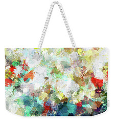 Weekender Tote Bag featuring the painting Spring Abstract Art / Vivid Colors by Ayse Deniz