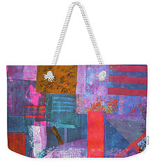 Weekender Tote Bag featuring the mixed media Spring Abstract by Riana Van Staden