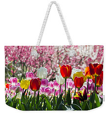 Weekender Tote Bag featuring the photograph Spring by Angela DeFrias